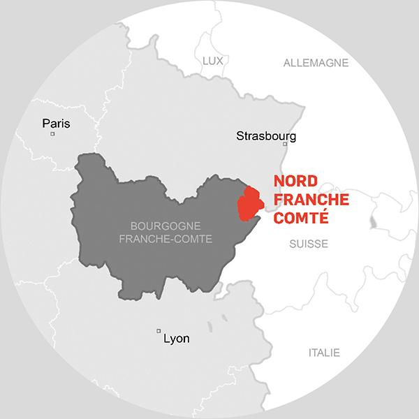 Carte Nord Franche-Comté