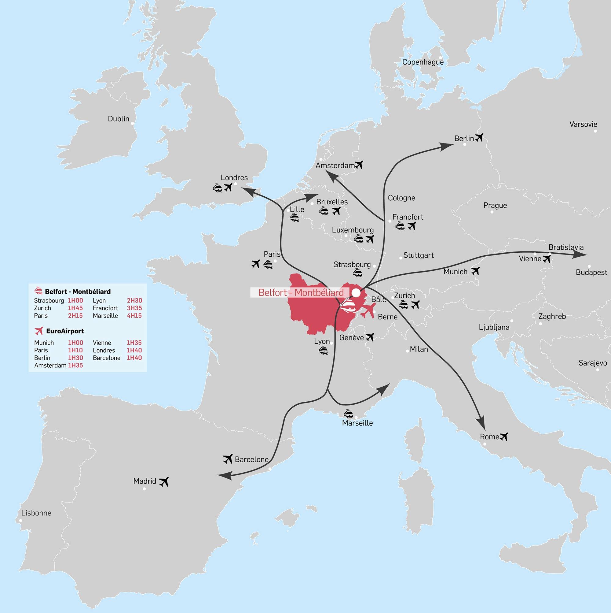 Cartographie Nord Franche-Comté