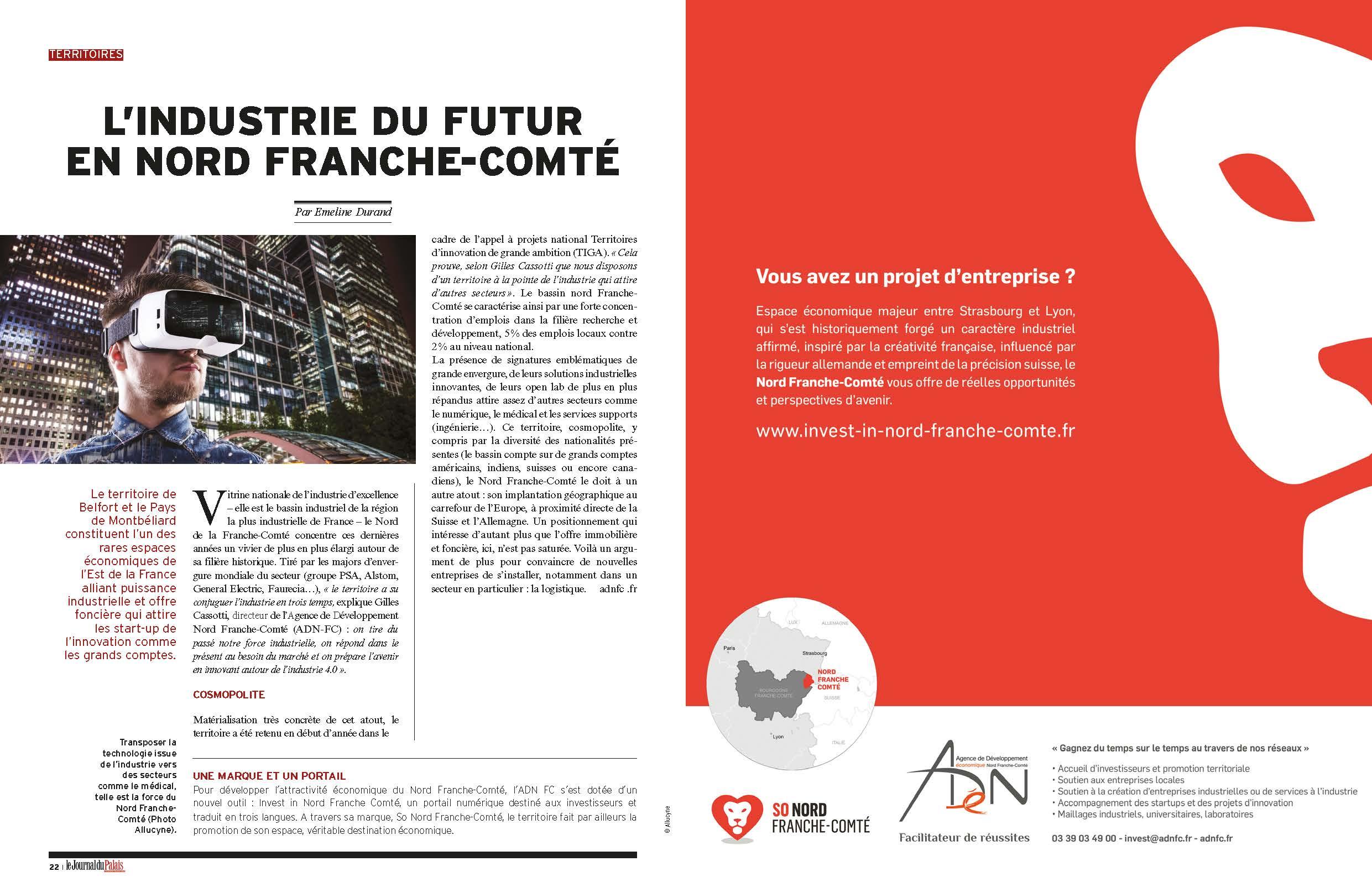Industrie du futur en Nord Franche-Comté - Journal du palais
