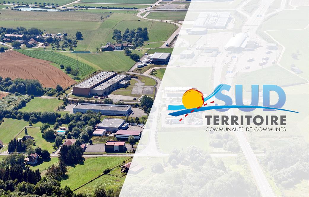 La Communauté de Communes Sud Territoire vues du ciel