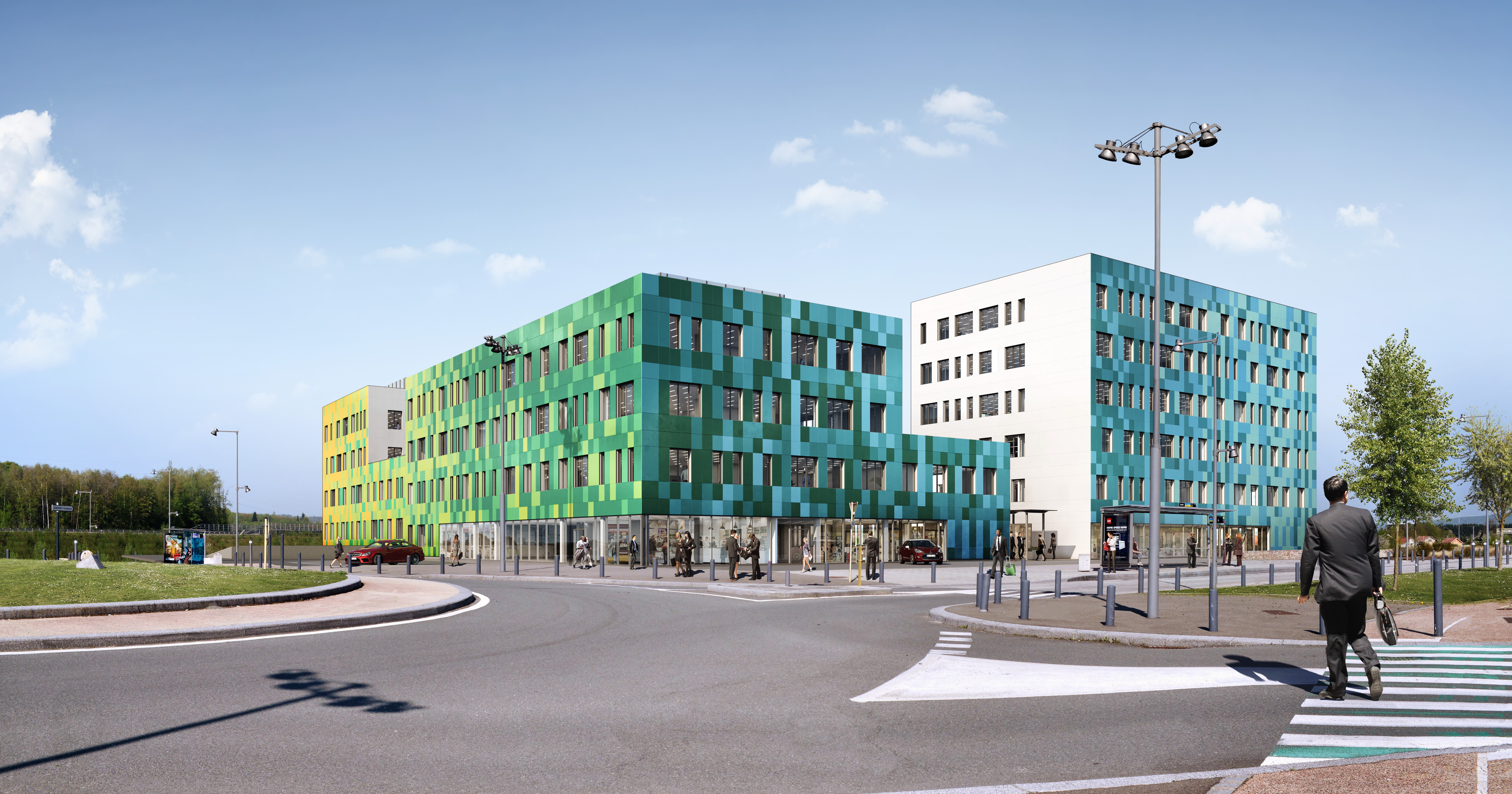 Jonxion Core - centre d'affaires à côté de la gare TGV Belfort Montbéliard
