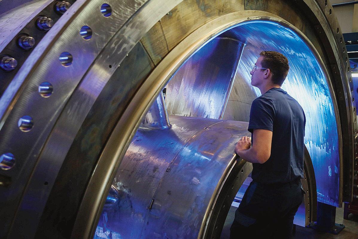 GE Belfort - Chaine de montage turbines