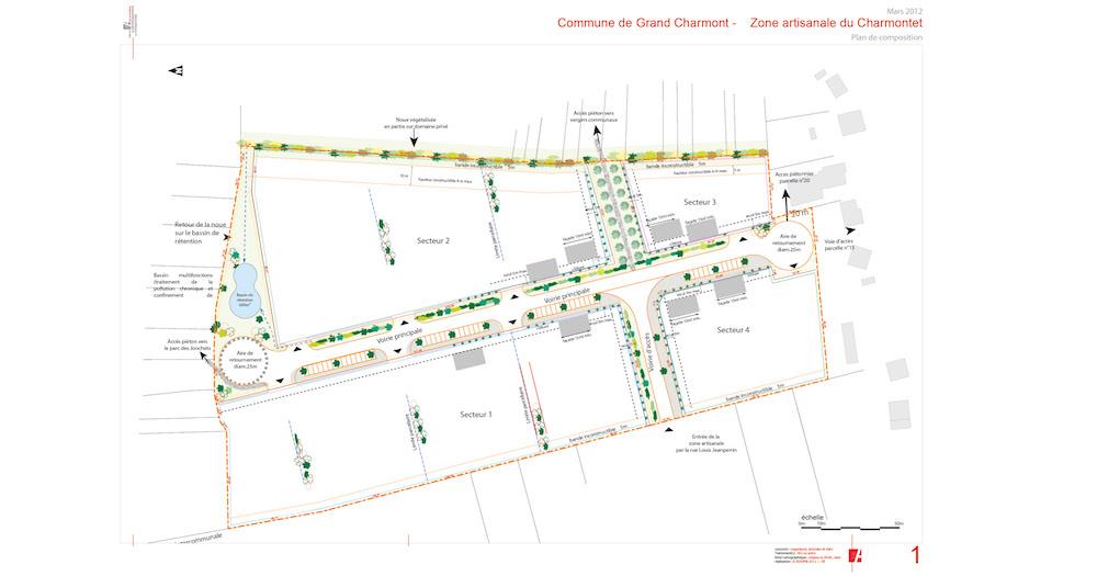 ZA du Charmontet - carte