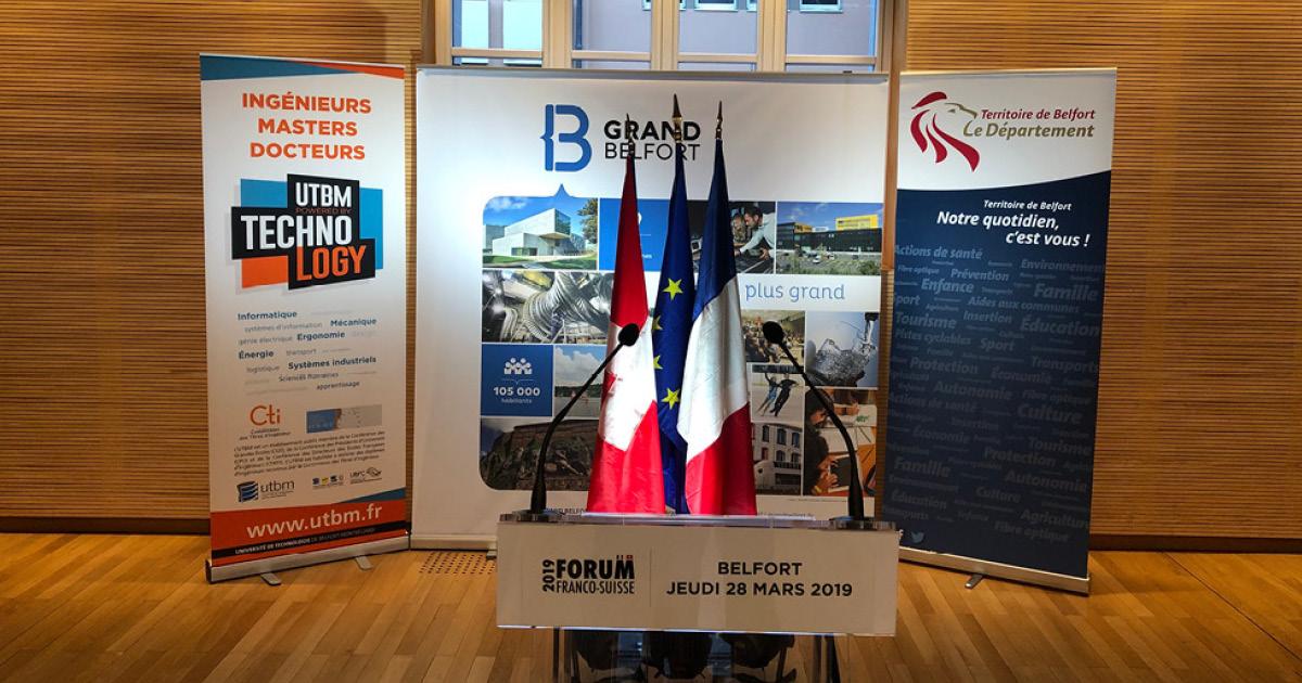 Forum économique franco-suisse 2019 UTBM