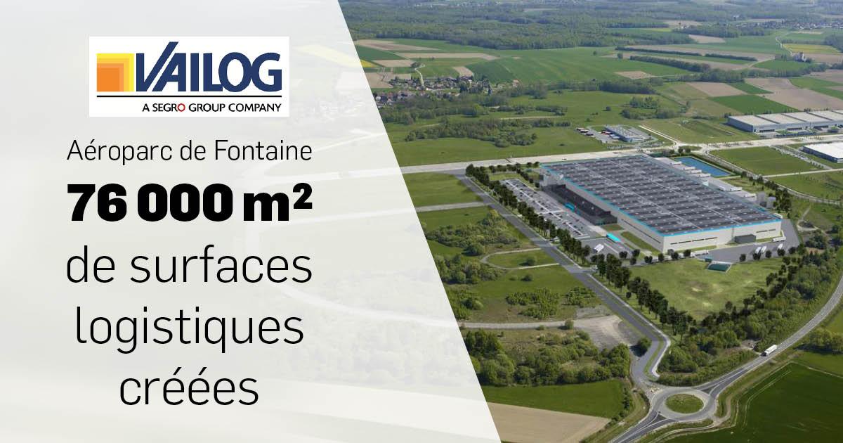 Aéroparc de Fontaine - Vailog Segro - Une surface d'implantation d'une très grande ampleur