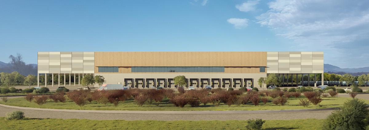 Bâtiment centre de messagerie Aéroparc de Fontaine (90) - Crédit photo VECTURA