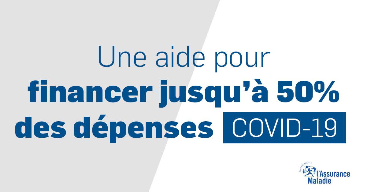 Aide pour financer jusqu'à 50% des dépenses COVID-19