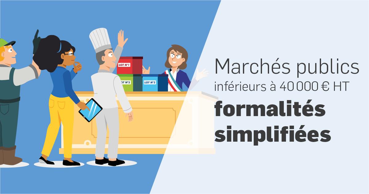 Marchés publics - formalités simplifiées