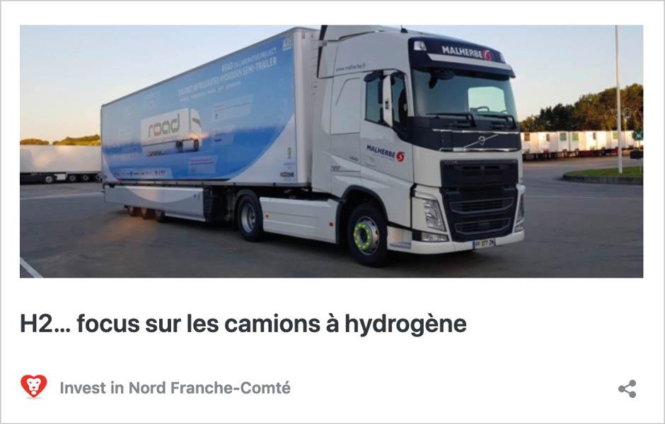 H2… focus sur les camions à hydrogène