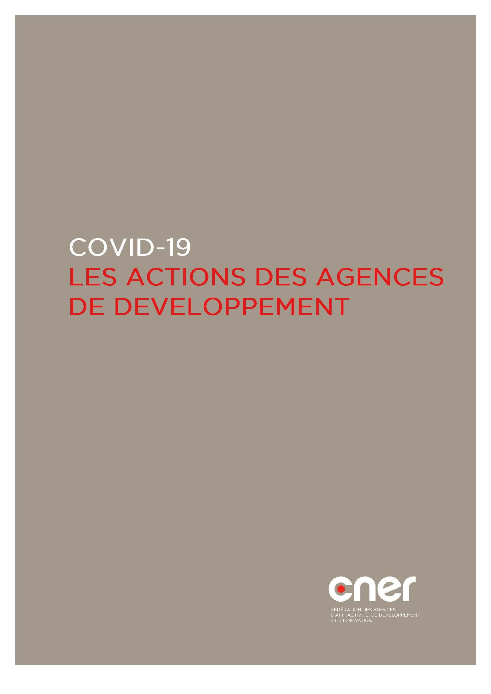 CNER - Actions des agences de developpement durant le Covid-19