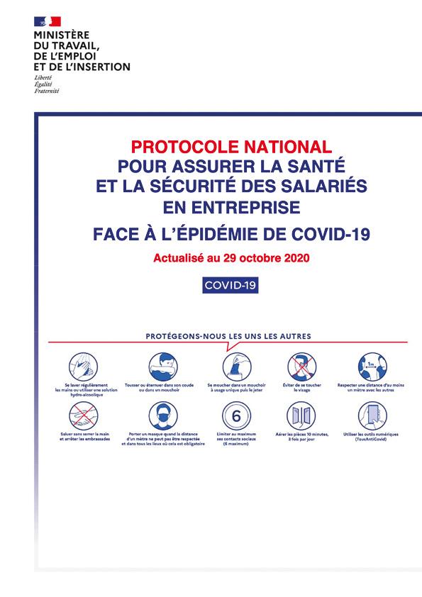 Protocole national santé sécurité en entreprise