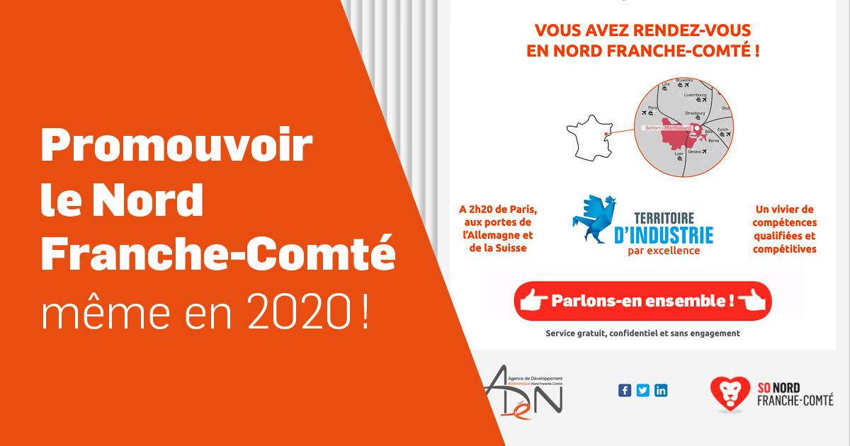 Promouvoir le Nord Franche-comté, même en 2020 !