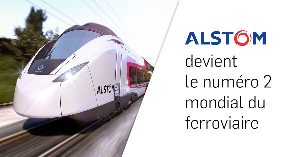 Alstom, numéro 2 mondial du ferroviaire