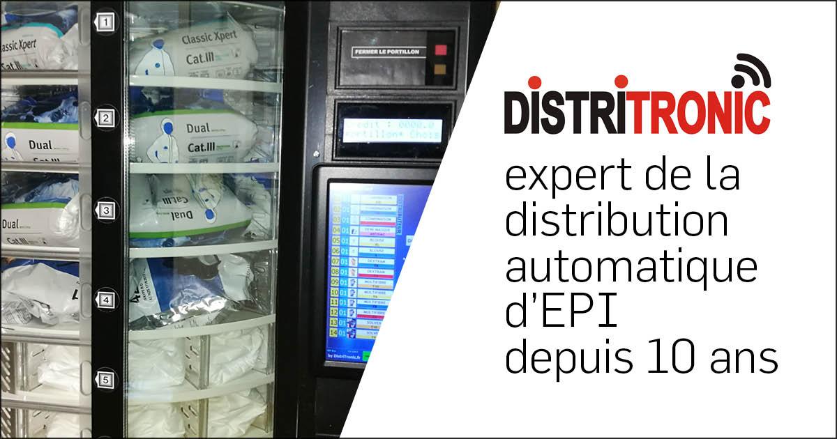 DistriTronic expert de la distribution automatique d'EPI