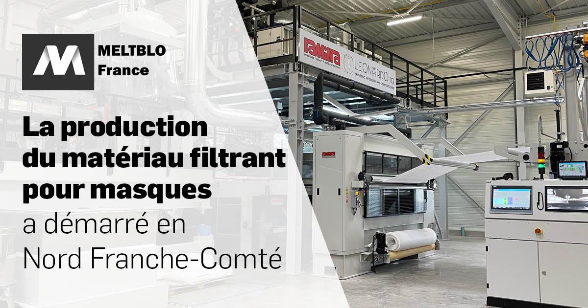 MELTBLO France produit du Meltblown en Nord Franche-Comté