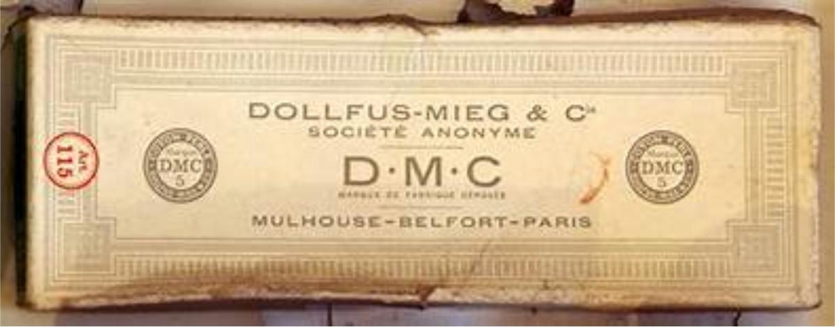 DMC : boîte de bobines ou écheveaux de fils